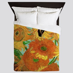 Van Gogh Twelve Sunflowers Queen Duvet