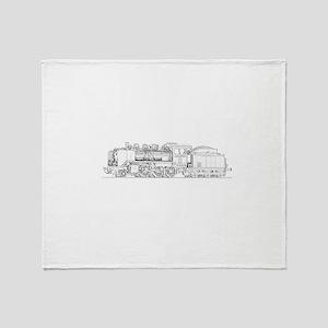 Steam Engine Train Throw Blanket