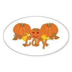 Halloween Pumpkin Cory Sticker (Oval)