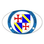 Jacques DeMolay Lodge Pin Sticker (Oval)