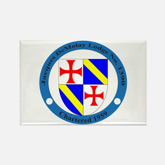 Jacques DeMolay Lodge Pin Rectangle Magnet
