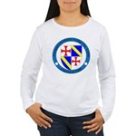 Jacques DeMolay Lodge Pin Women's Long Sleeve T-Sh