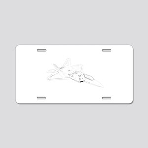 F22 Raptor Aluminum License Plate