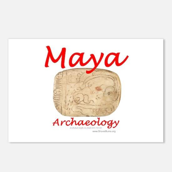 Maya archaeology - Architect Glyph Postcards (Pack