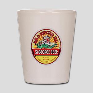 Ethiopia Beer Label 4 Shot Glass