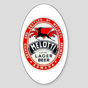Ethiopia Beer Label 2 Sticker (Oval)