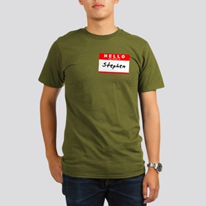 Stephen, Name Tag Sticker T-Shirt