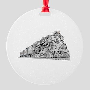 Polar Express Train Round Ornament