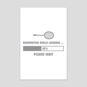 Badminton Skills Loading Mini Poster Print