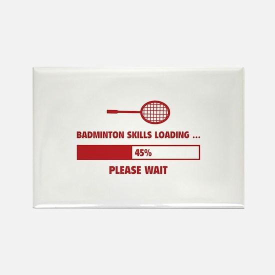 Badminton Skills Loading Rectangle Magnet