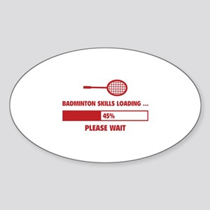 Badminton Skills Loading Sticker (Oval)