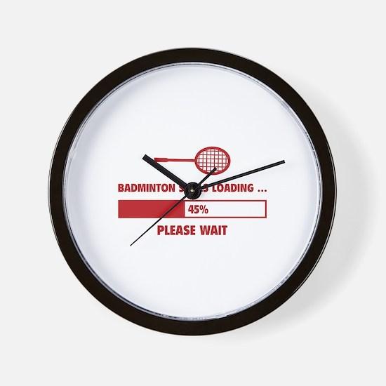 Badminton Skills Loading Wall Clock
