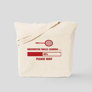 Badminton Skills Loading Tote Bag