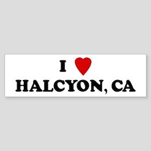 I Love HALCYON Bumper Sticker