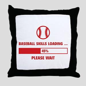 Baseball Skills Loading Throw Pillow