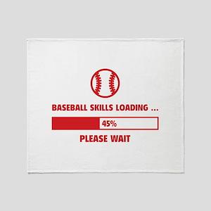 Baseball Skills Loading Throw Blanket