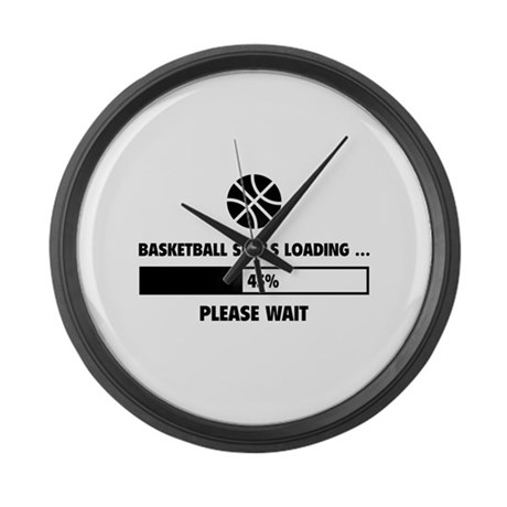 Basketball Skills Loading Large Wall Clock