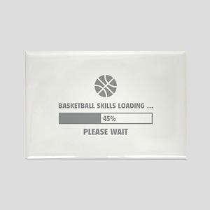 Basketball Skills Loading Rectangle Magnet