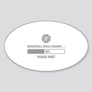 Basketball Skills Loading Sticker (Oval)