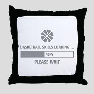 Basketball Skills Loading Throw Pillow