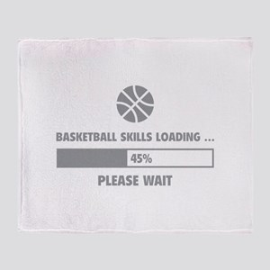 Basketball Skills Loading Throw Blanket