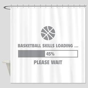 Basketball Skills Loading Shower Curtain