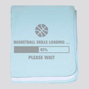 Basketball Skills Loading baby blanket