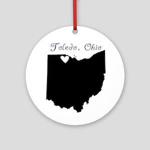 Toledo Ohio Ornament (Round)