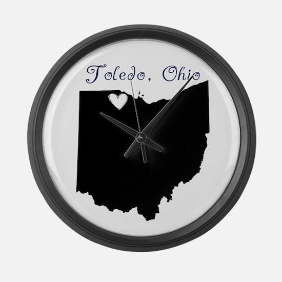 Toledo Ohio Large Wall Clock