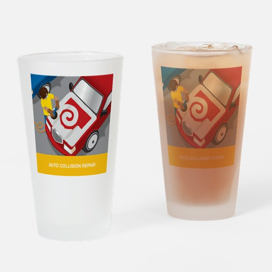 Cute Collision Drinking Glass