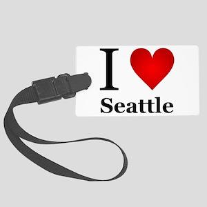 I Love Seattle Large Luggage Tag