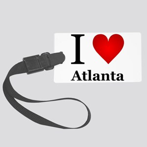 I Love Atlanta Large Luggage Tag