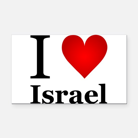 I Love Israel Rectangle Car Magnet