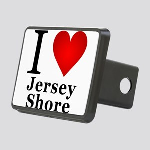 I Love Jersey Shore Rectangular Hitch Cover