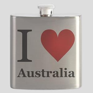 I Love Australia Flask