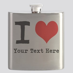 I Heart (personalized) Flask
