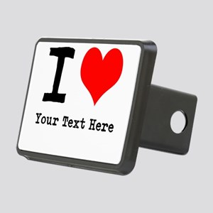 I Heart (personalized) Rectangular Hitch Cover