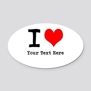 I Heart (personalized) Oval Car Magnet