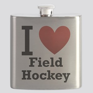 i-love-field-Hockey-light-tee Flask