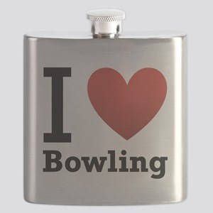 i-love-bowling-light-tee Flask