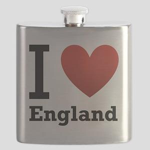 i-love-england-light-tee Flask
