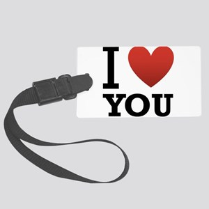 i-love-you-2 Large Luggage Tag