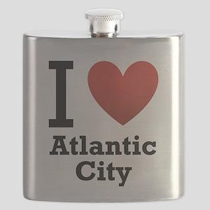 I-Love-Atlantic-City Flask