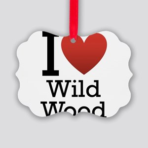 wildwood rectangle Picture Ornament