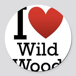 wildwood rectangle Round Car Magnet