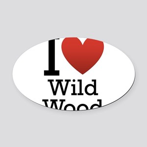 wildwood rectangle Oval Car Magnet