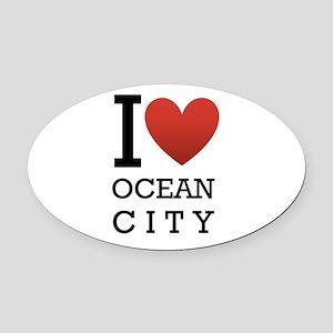 I <3 Ocean City Oval Car Magnet