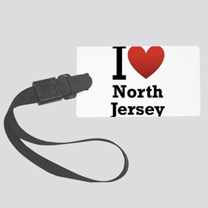 i love north jersey Large Luggage Tag