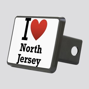 i love north jersey Rectangular Hitch Cover