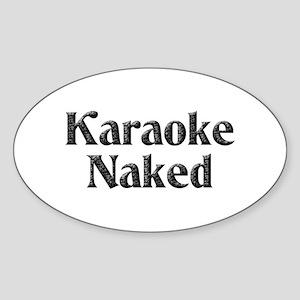 Karaoke Naked Oval Sticker